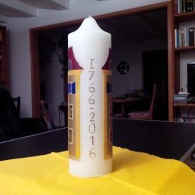 Jubilee candle: temple 250 years