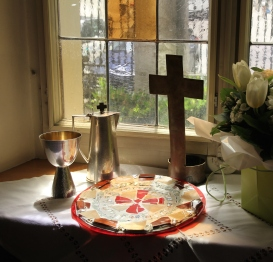 re-constructed plate from Easter Vigil