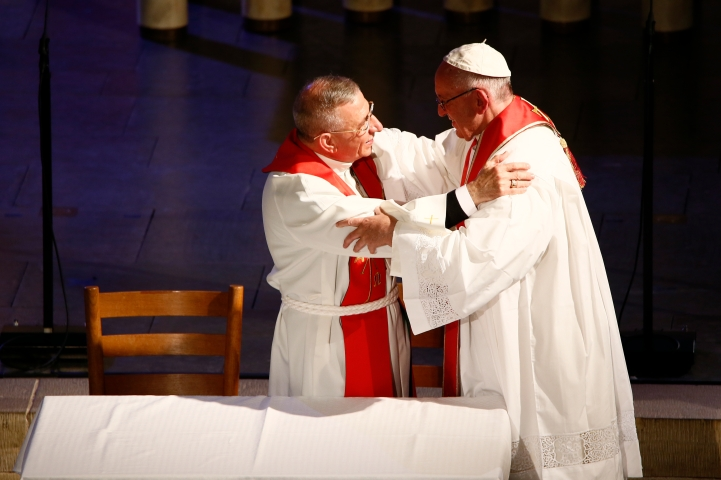Bishop Munib Younan; Pope Francis