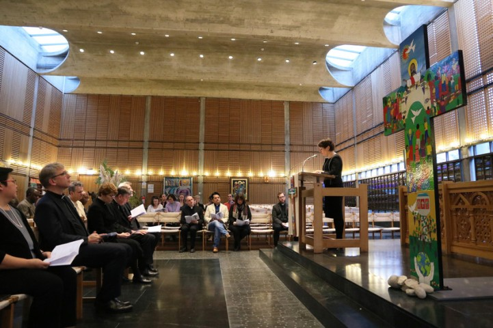Dedication of the Lund Cross in the chapel of Ecumenical centre during Week of Prayer for Christian Unity, 18 January 2018